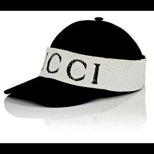 Gucci Authentic Black Rare Gabardine Headband Cap